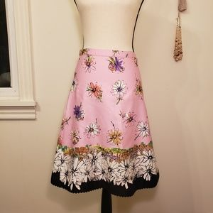 Anthropologie elevenses floral skirt